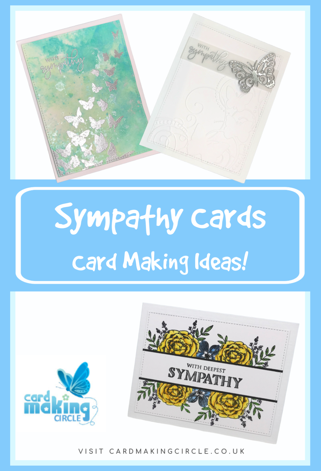Sympathy cards ideas to send love and support at a difficult time. #sympathycards #cardmakingideas