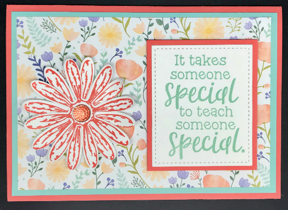 Card for teacher of child with special needs
