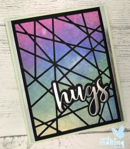 Inlaid die cutting made with ink blending and the Spellbinders Glass Effect die