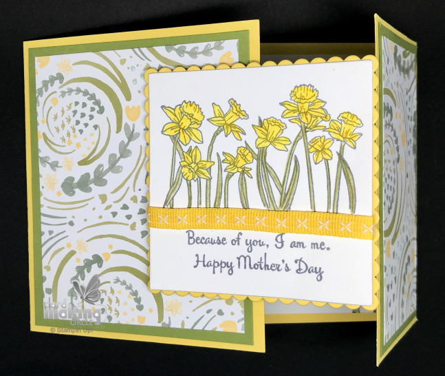 Daffodil mothers day card
