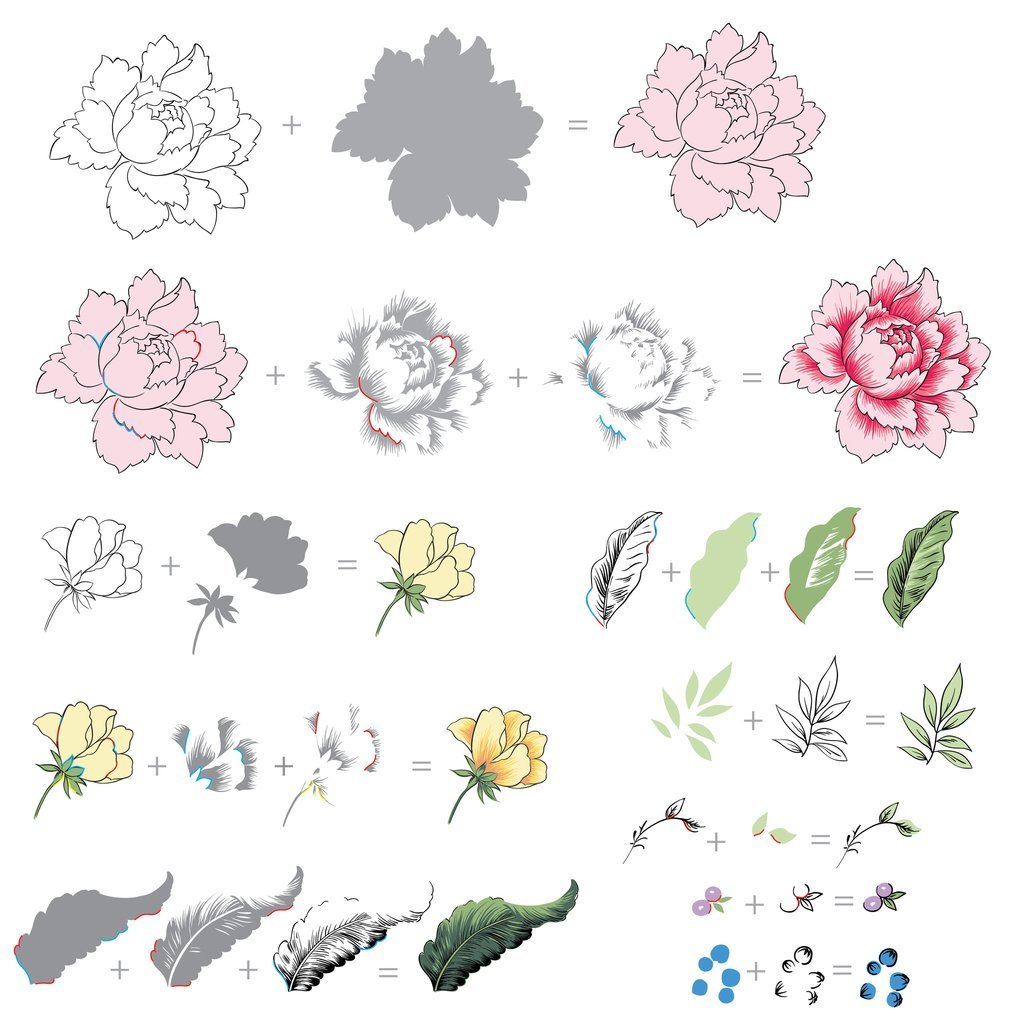 stamp layering guide Altenew's Peony Bouquet