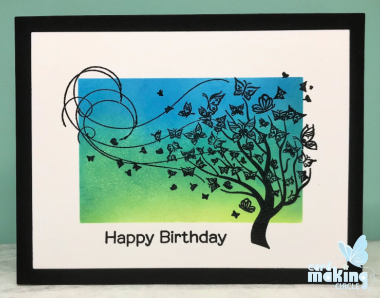 Birthday card made with the
