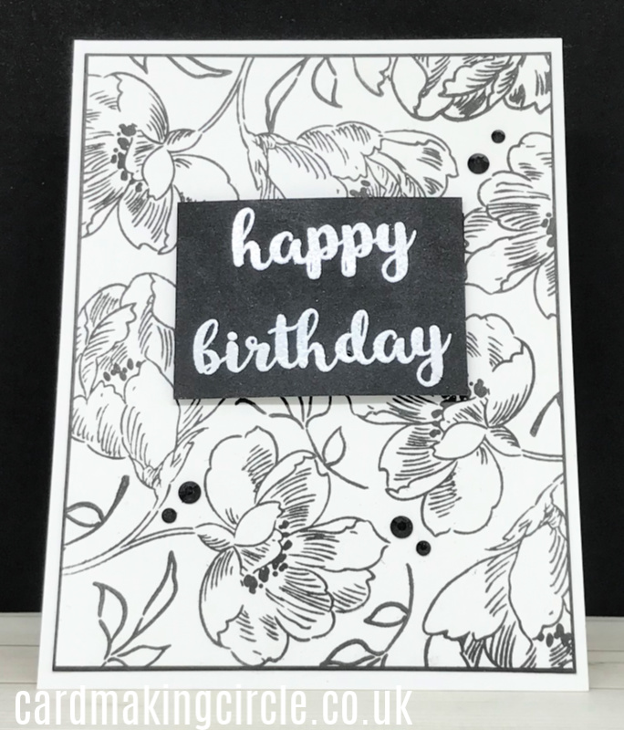 A Happy Birthday Card made with Altenew's Pen Sketched Flowers stamp set.