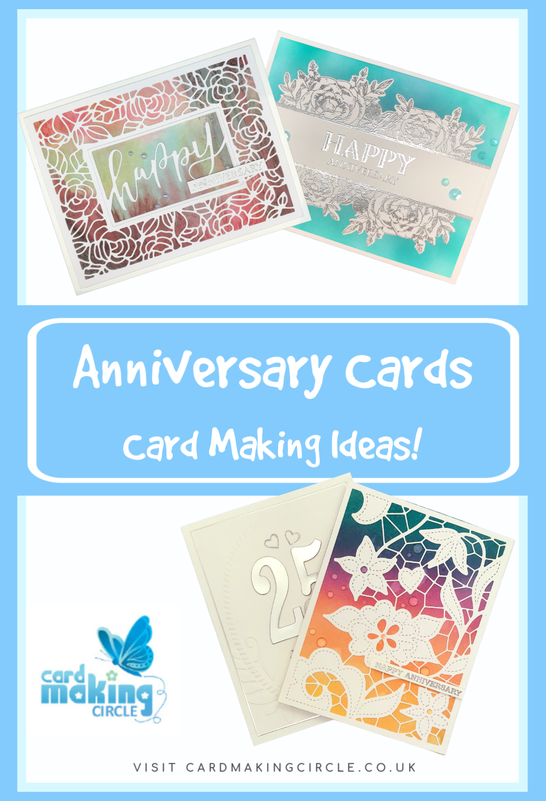 Wedding anniversary cards to recognise the years you have spent together. #weddinganniversarycards #anniversarycards #cardmakingideas