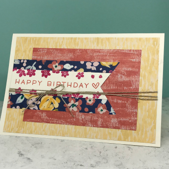 Banner and layers made with patterned paper