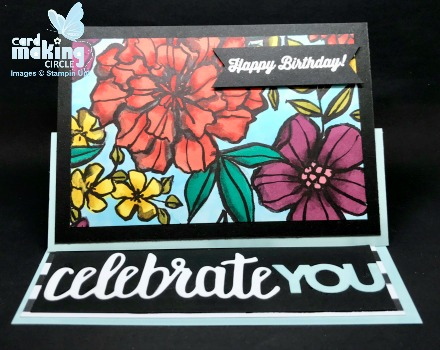 Twisted easel card created with Stampin Up supplies
