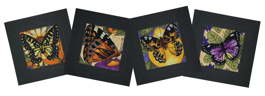 Butterfly fabric greeting cards