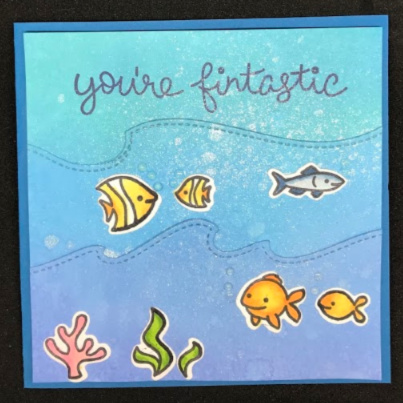 Fish card made with