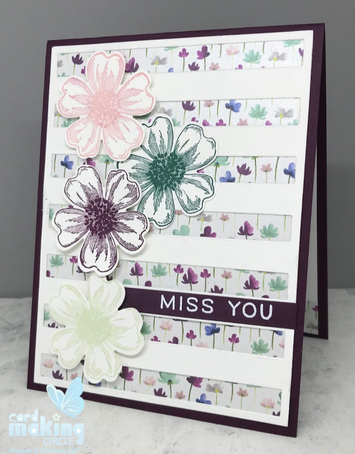 Flower greeting cards using stamps and ink from Stampin Up!