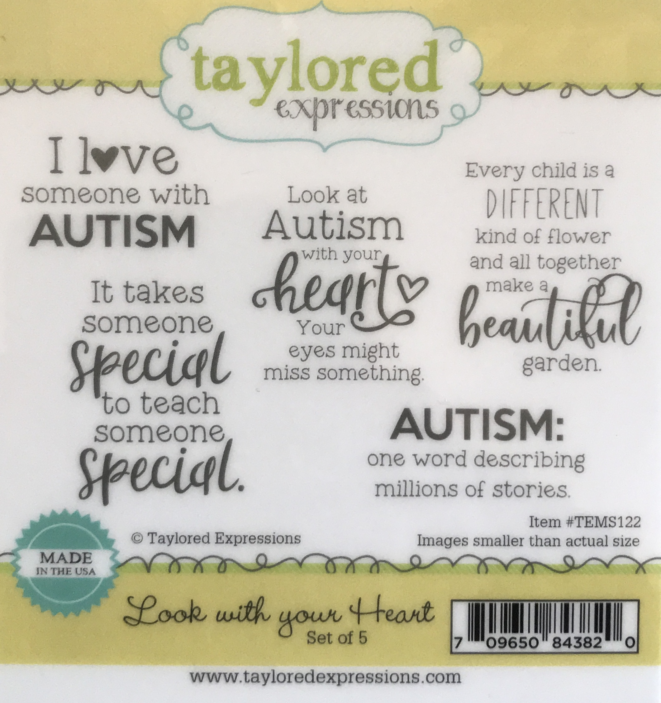 Look with all your heart - autism stamps
