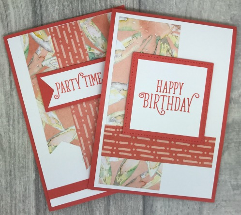Birthday cards made with a one sheet wonder