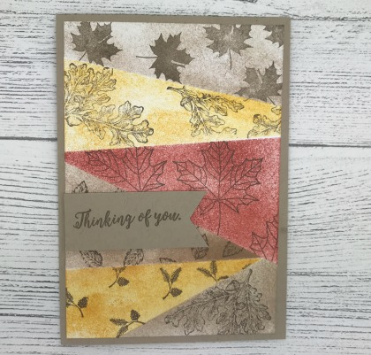 Autumn card created using the Retiform technique