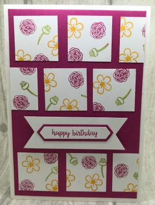 Simple Birthday card made with card making punches
