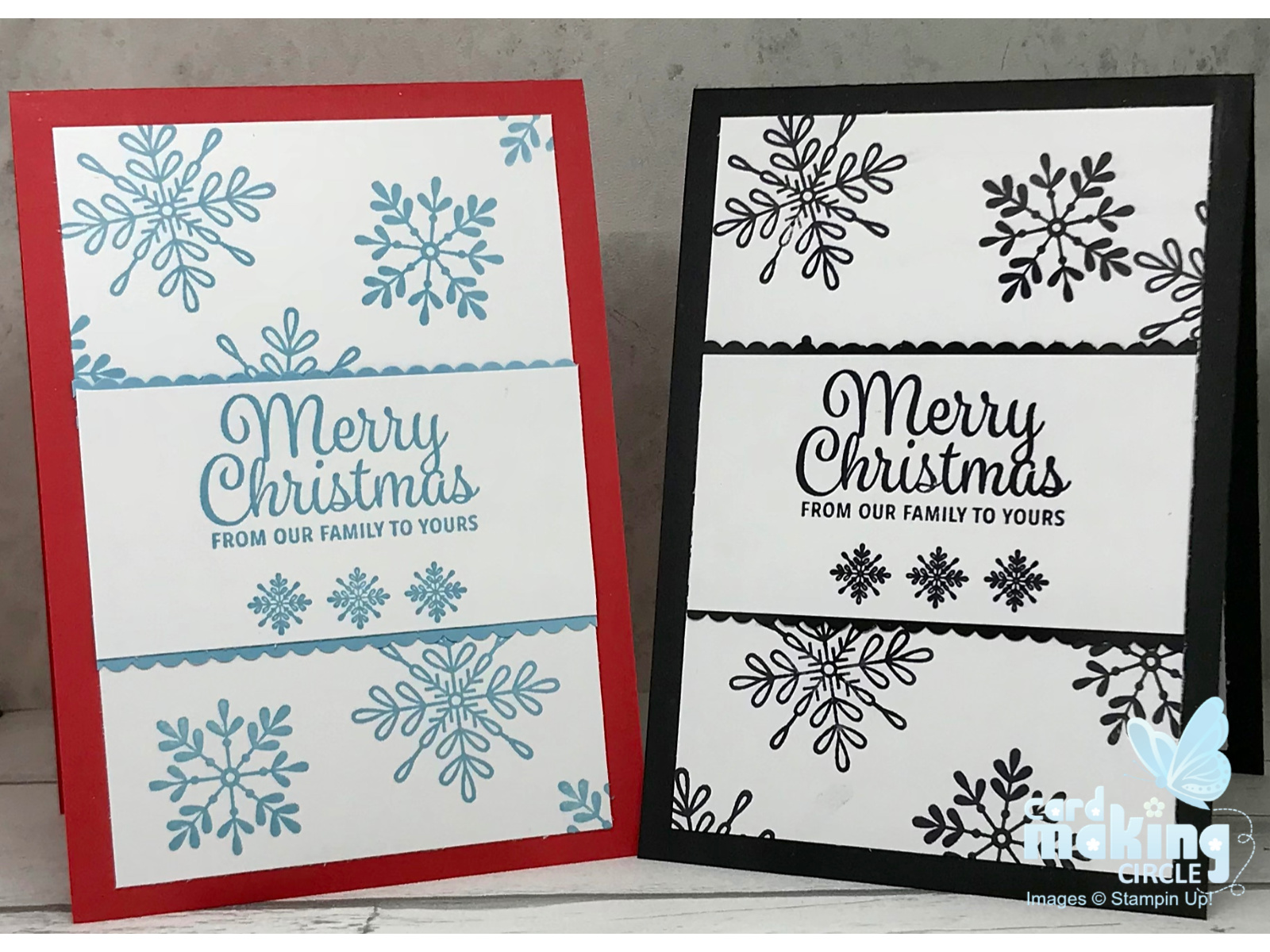 Snowflake Cards Stampin Up! Christmas Cards