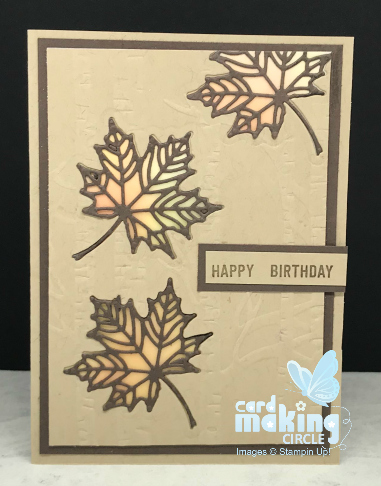 Autumn stained glass card