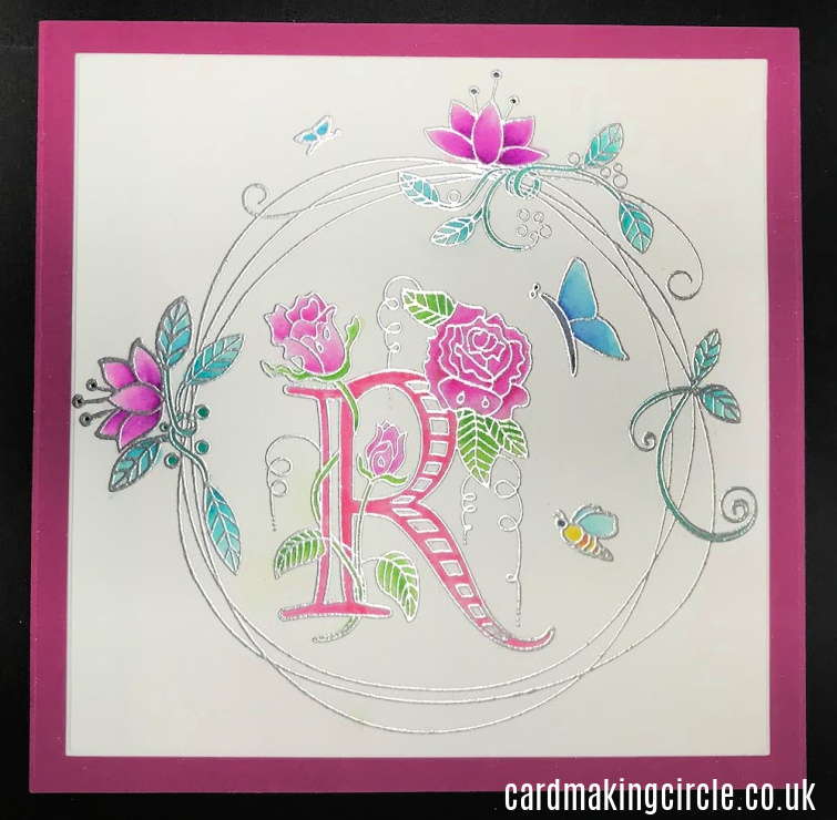 A pretty card for a little girl who likes pink, bugs and butterflies.  Created with stamps from Clarity Stamps.