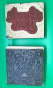 back of wooden stamps